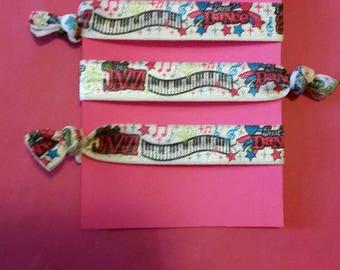 Set of 4 dance elastic Hair ties