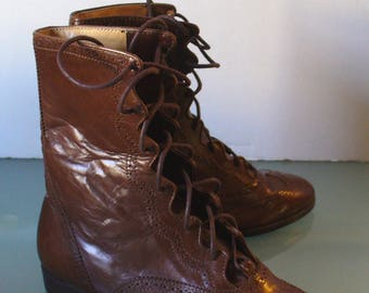 Made in Italy Ralph Lauren Wingtip  Boots Size 5 B