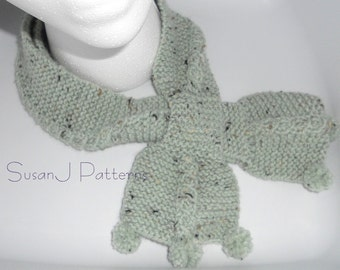 Bow Tie Cable Scarf Knitting Pattern PDF