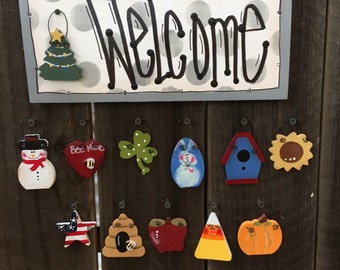 """Mini Welcome Sign """"gray"""""""