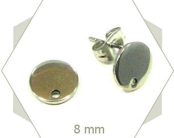 circle stainless AC03 12 Stud Earrings