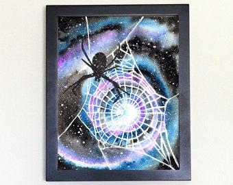 Spider Art Print Galaxy Spirit Animal Watercolor