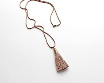 PERSEPHONE Necklace | naturally dyed silk tassel necklace