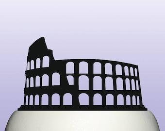Acrylic Colosseum Coliseum Roman Flavian Amphitheatre Cake Topper
