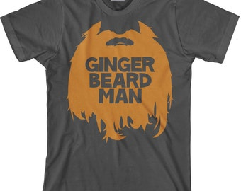 Funny Men's Beard T Shirt, Ginger Beard Man Tee for Bearded Men, Beard Shirt, Funny Beard Shirt, Gingerbeard Man TShirt - Item 1403