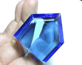 1 Piece Extremely Beautiful Tanzanite Blue Quartz Faceted Fancy Shaped Gemstone Bead Size 30X25 MM
