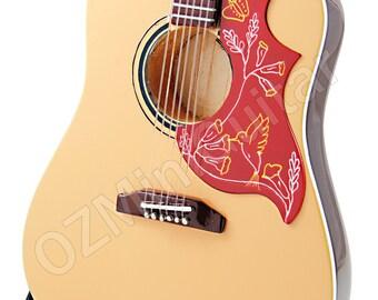 Miniature Acoustic Guitar Elvis Presley Natural