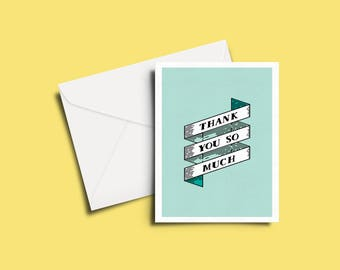 Thank Yous and Ribbons Greeting Card