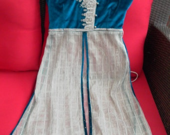 REDUCED PRICE - Vintage silk velvet indian dress/tunic all embroidered jewelled & sequined