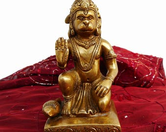 "5"" HIMALAYAN 8 Metal Alloy Blessing HANUMAN Statue / Idol / sculpture / from Himachal Pradesh - India. Blessed & Initiated. Hindu Monkey God"