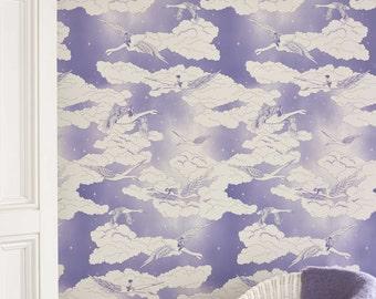 SWANS Lavender Wallpaper 10 Meter Roll