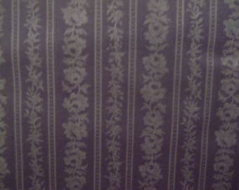 Lilac Rose Stripe 100% Cotton Fabric #293