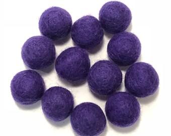Single Color Pack - 24PC PURPLE Felt Balls