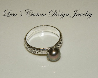 Art Deco Sterling Silver Pearl Ring