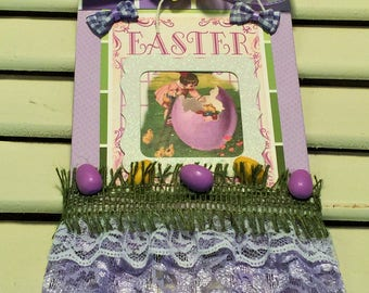 Easter Wall Hanging, Easter Decoration, Easter Eggs, Easter Chic