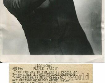 Russ Morgan band leader w trombone antique jazz photo