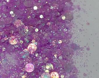 Mauve Blitz - 5g solvent resistant nail glitter