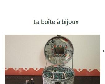 PDF Tutorial of a jewel box, from the cartonnage designer Carole Meunier