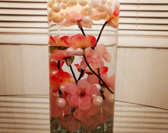 Cherry Blossom Theme Floating Candle for Center Piece