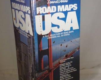 Box full of travel maps