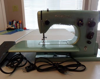 Vintage Husqvarna Automatic Sewing MachineType 21E Power Cord Foot Pedal Made in Sweden