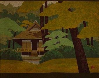 Masao Ido 'Sanzenin' Furoshiki Japanese Fabric Cotton 105cm w/Free Insured Shipping