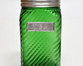 1930s Owens Illinois Tea Pantry Canister Jar