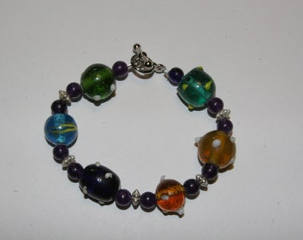Lamp work Beaded Bracelet