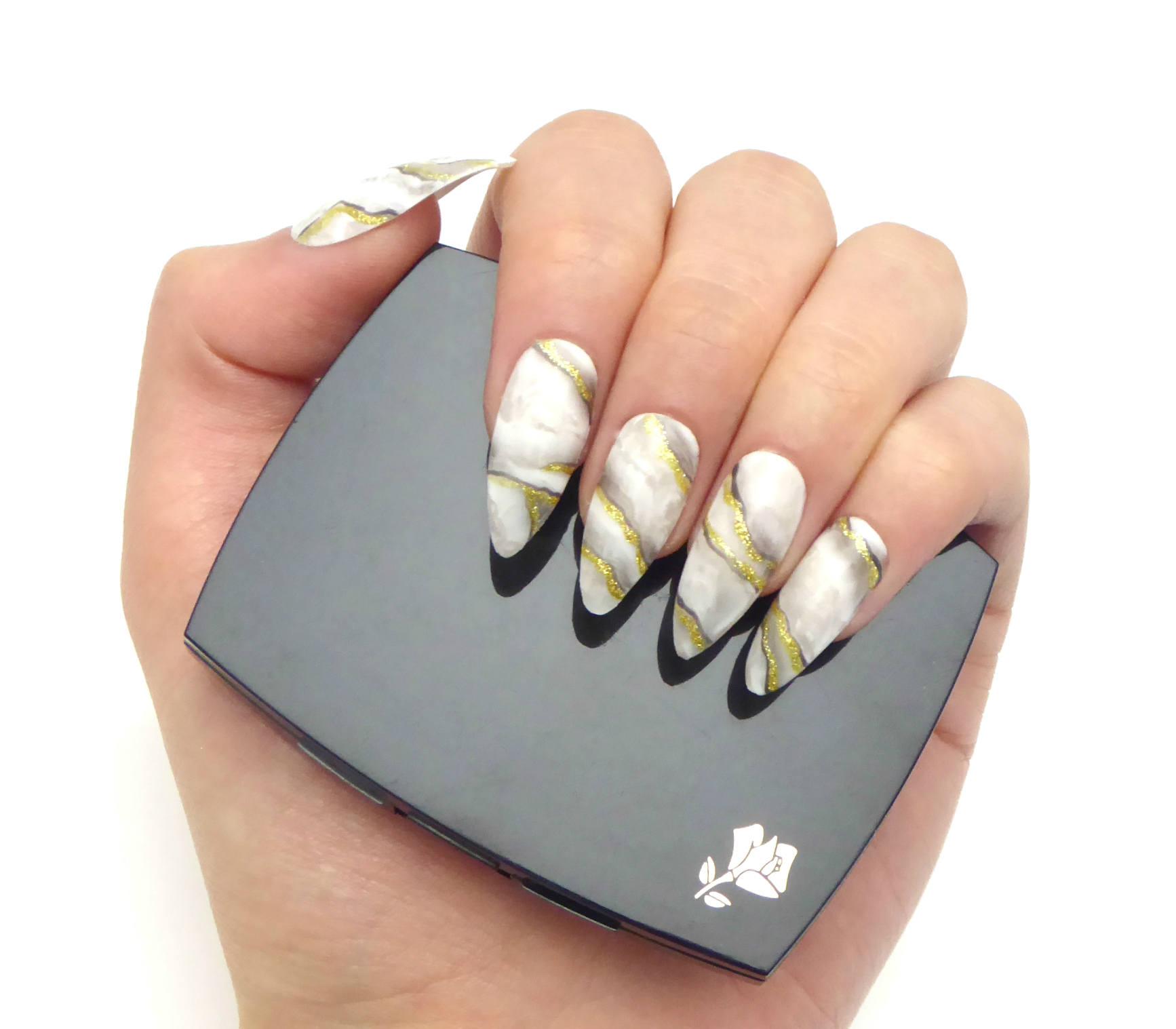 Marmor-Nägel / künstliche Nägel drücken Sie auf falsche