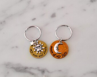 Game of Thrones Inspired Matching Keychain Set  - My Sun and Stars, Moon of My Life Keychains - Also available in Dothraki