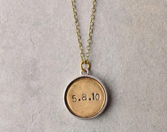 Engraved personalized pendant ONLY