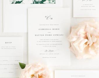 Gabriella Wedding Invitation - Deposit