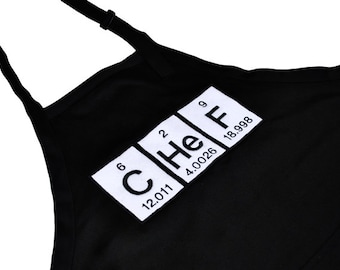 Cooking/Grilling Apron with Periodic Table Chef and Pockets