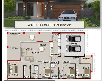 209 m2 |4 Bedroom house plan  For Sale | home plans | Lakeside design 209