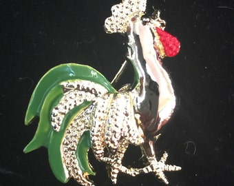 Vintage Gerry Rooster Pin