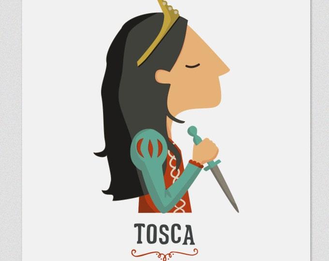 """Ilustración """" Tosca """". Según la opera de Puccini."""