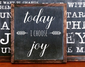 Today I choose Joy wood sign home decor rustic distressed arrow sign gift wall art hand painted inspriational sign #183