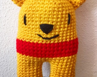 Winnie The Pooh Inspired Lovey Security Blanket Snuggle