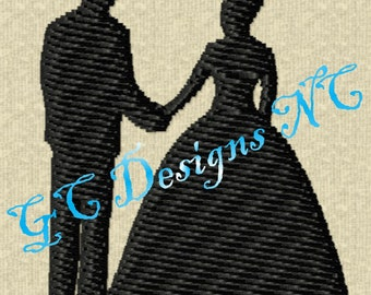 Small Bride and Groom Embroidery Design