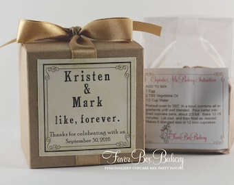 LIKE FOREVER - One Dozen (12) Wedding or Engagement Party Cupcake Mix Party Favors