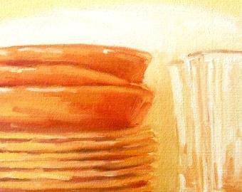Orange Plates • Oil Paintings • Original Art • Oil Painting • Daily Painter • Daily Painting • Warm Plates