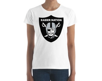 Raider Nation Logo, Black & Grey, Women's short sleeve t-shirt