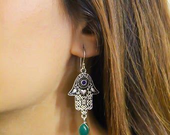 Antique Hamza Hand Earrings