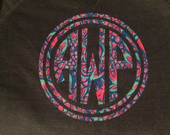 Personalized Circle Monogram Sweatshirt/T-Shirt
