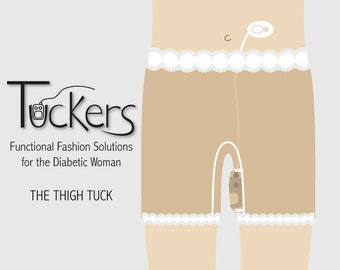 Tuckers shorts for insulin pumps - The Leg Tuck: Undergarment with hidden pocket to conceal an insulin pump.
