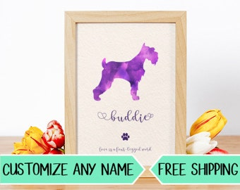 P03 Custom Dog Silhouette Personalized Pet Art