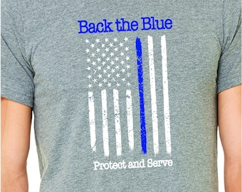 Back the Blue. Avon Public Safety Foundation Back the Blue tee.
