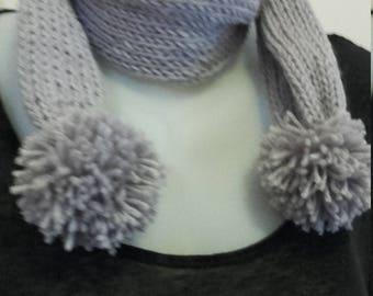 scarf for little girl gray iridescent