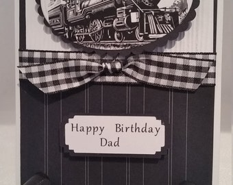 Handmade, handcrafted, unique Happy Birthday Dad