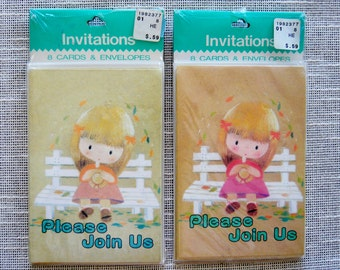 Vintage Party Invitations 1970s Original Packaging